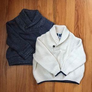 Janie and Jack/GAP baby boy sweater bundle
